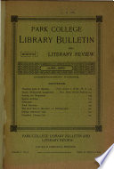 Park College Library Bulletin and Literary Review