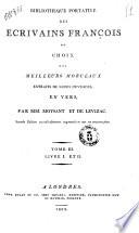 Bibliotheque portative des ecrivains françois ou Choix des meilleurs morceaux extraits extraits de leurs ouvrages en prose, par mm. Moysant et de Levizac ... Tome 1. [-3.]
