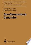 One Dimensional Dynamics