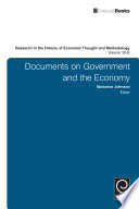 Research in the History of Economic Thought and Methodology  Documents on Government and the Economy  Volume 30B