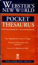 Webster S New World Pocket Thesaurus