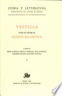Vestigia  Studi in onore di Giuseppe Billanovich