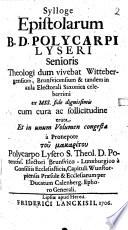 Sylloge epistolarum ...