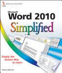 Word 2010 Simplified