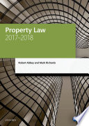 Property Law 2017 2018