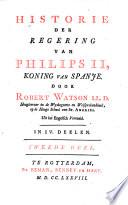 Historie der regering van Philips II, koning van Spanje