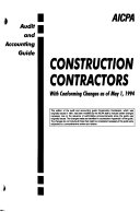 Construction Contractors With Conforming Changes As Of