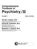Comprehensive textbook of psychiatry, III