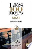 Les 100 Mots Du Droit