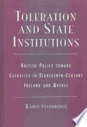 Toleration and State Institutions