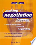 Making Negotiation Happen