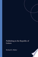 Publishing in the Republic of Letters
