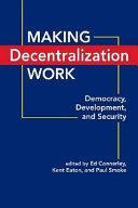 Making Decentralization Work