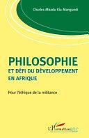 illustration Philosophie et défi du développement en Afrique