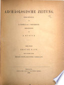 Denkma ler  Forschungen und Berichte als Fortsetzung der Archa ologischen Zeitung