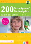 200 Textaufgaben Sachaufgaben wie in der Schule 1  4  Klasse