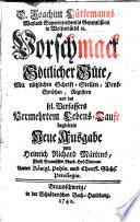 D. Joachim Lütkemanns Weyland Superintendentis Generalißimi in Wolfenbüttel [et]c. Vorschmack Göttlicher Güte