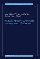 Kulturkontrastive Grammatik - Konzepte und Methoden