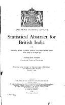 East India  statistical Abstract