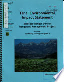 Humboldt Toiyabe National Forest  N F    Jarbidge Ranger District Rangeland Management Project