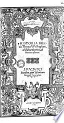 Historia breuis Thomae Walsingham     ed  a M  Parker