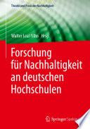 Forschung f  r Nachhaltigkeit an deutschen Hochschulen