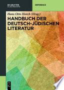 Handbuch Der Deutsch J Dischen Literatur
