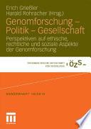 Genomforschung   Politik   Gesellschaft