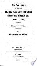 Versuch einer Geschichte und Charakteristik der französischen National-Litteratur