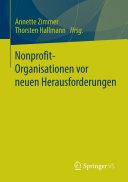 Nonprofit-Organisationen vor neuen Herausforderungen