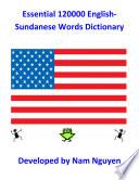 Essential 120000 English Sundanese Words Dictionary