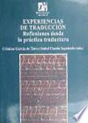 Experiencias De Traduccion/ Experiences of Translation
