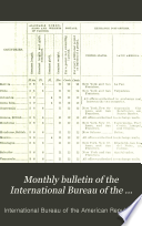 Monthly Bulletin of the International Bureau of the American Republics  International Union of American Republics