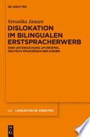 Dislokation im bilingualen Erstspracherwerb
