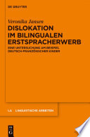 Dislokation im bilingualen Erstspracherwerb