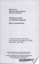 Politiques D Aide Et Recherche Agricole