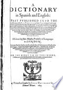 A Dictionary In Spanish And English