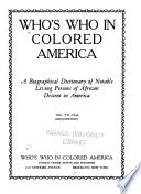 Who s who in Colored America