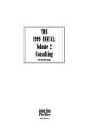 The Annual  1999 Training   Consulting  The 1999 Annual  Volume 2  also available in looseleaf