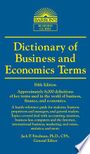 DICTIONARY OF BUSINESS AND ECONOMIC TERMS  5th ed