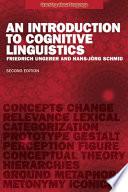 An Introduction to Cognitive Linguistics