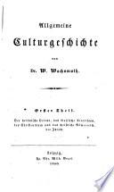 Allgemeine Culturgeschichte, 1-2