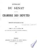 Annales du S  nat et de la Chambre des d  put  s