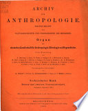 Archiv f  r Anthropologie  V  lkerforschung und kolonialen Kulturwandel