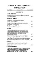 Suffolk transnational law review