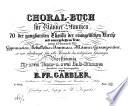 Choralbuch für Männerstimmen
