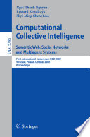 Computational Collective Intelligence Semantic Web Social Networks And Multiagent Systems