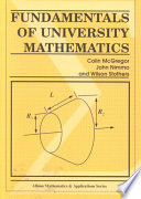 Fundamentals of University Mathematics