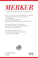MERKUR Deutsche Zeitschrift für europäisches Denken - 2017-05