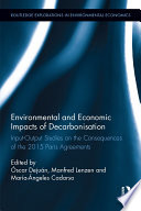Environmental and Economic Impacts of Decarbonization